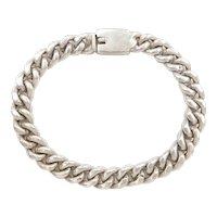 Solid Curb / Cuban Link Bracelet Sterling Silver