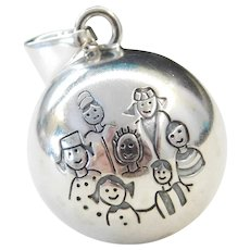 Sterling Silver Family Jingle Ball Pendant