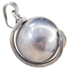 Sterling Silver Jingle Ball Pendant
