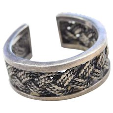 Sterling Silver Wide Woven Toe Ring