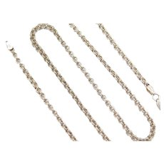 """18"""" Sterling Silver Double Link Chain ~ 9.9 Grams"""