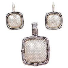 Sterling Silver Pendant and Earrings Set