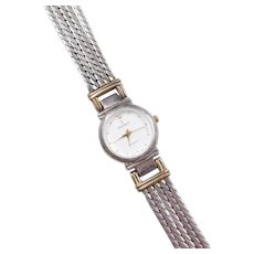 """Sterling Silver Gold Plated Peugeot Ladies Watch ~ 7 1/2"""""""