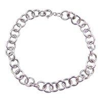 """Sterling Silver Link Bracelet ~ 7 1/4"""""""