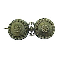 Hand Crafted 8k Gold Victorian Brooch Cannetille Filagree