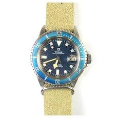 Vintage Rolex Tudor Oyster Prince Blue/Blue Stainless Submariner