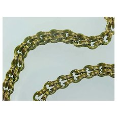 Hand Made VERY RARE Victorian 14k chain/fob