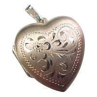 Vintage 10k Gold Heart Locket
