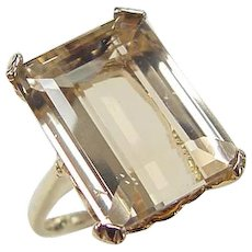 Vintage 14k Gold 10.14 Carat Citrine Ring