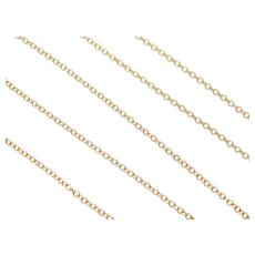 """18"""" 14k Gold Cable Chain 2.4 Grams"""