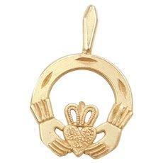 14k Gold Claddagh Charm ~ Friendship, Love and Loyalty