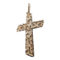 Vintage 14k Gold Cross Pendant