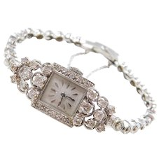 "Vintage 14k Gold Diamond Croton Ladies Watch ~ 6 1/2"""