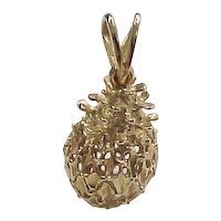 Vintage 14k Gold Pineapple Charm