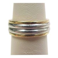 Vintage 18k Gold and Platinum Band Ring