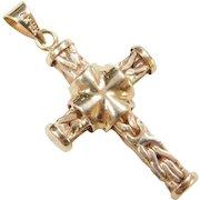Vintage 18k Gold Byzantine Cross Pendant ~ Turkey