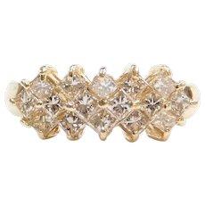 1.00 ctw Princess Cut Diamond Ring 14k Gold