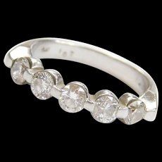Platinum 1.02 ctw Diamond Ring Vintage