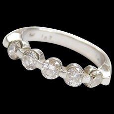 Platinum 1.02 ctw Diamond Ring Vintage