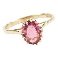 Vintage 14k Gold 1.27 Carat Pink Tourmaline Solitaire Ring