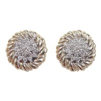 Vintage 14k Gold 1.52 ctw Diamond Stud Earrings