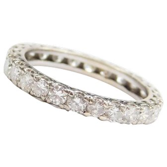 1.56 ctw Diamond Eternity Band 14k White Gold ~ Wedding Ring