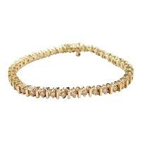 "Petite 6"" 1.60 ctw Diamond Tennis Line Bracelet 14k Gold"