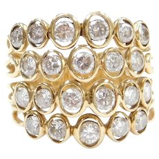 1.78 ctw 18k Gold Wide Diamond Ring