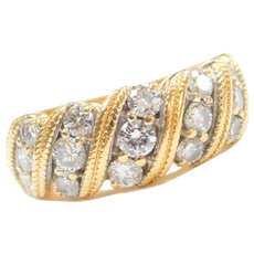 1.82 ctw Diamond 18k Yellow Gold Ring