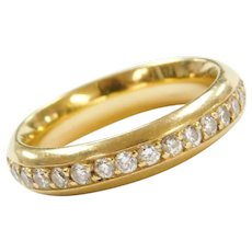 18k Gold 1/2 ctw Diamond Eternity Wedding Band ~ .50 ctw ~ Comfort Fit
