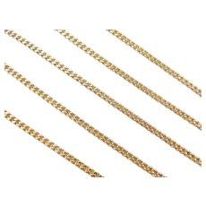 "22"" 14k Gold Men's Curb / Cuban Link Chain ~ 13.1 Grams"