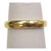 Vintage 24k Gold Wedding Band Ring ~ Pinky Ring
