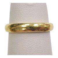 Vintage 24k Gold Wedding Band Ring ~ Pinky Ring