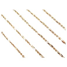 "24"" Long Fancy Diamond Cut Bar Necklace"