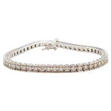 2.70 ctw Diamond Tennis Bracelet 14k White Gold