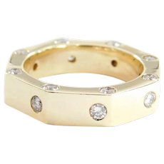 Stop Sign 1.20 ctw Diamond Ring 14k Gold Size 7