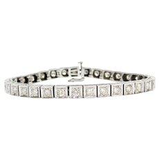 "7"" 3.30 ctw Platinum Diamond Tennis Line Bracelet"