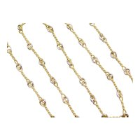 "15 1/2"" 14k Gold Two-Tone Fancy Link Necklace"