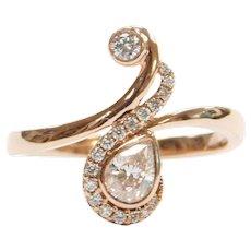 .45 ctw Diamond 14k Rose Gold Bohemian Ring