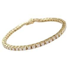 "7"" 14k Gold 5.00 ctw Diamond Tennis Line Bracelet"