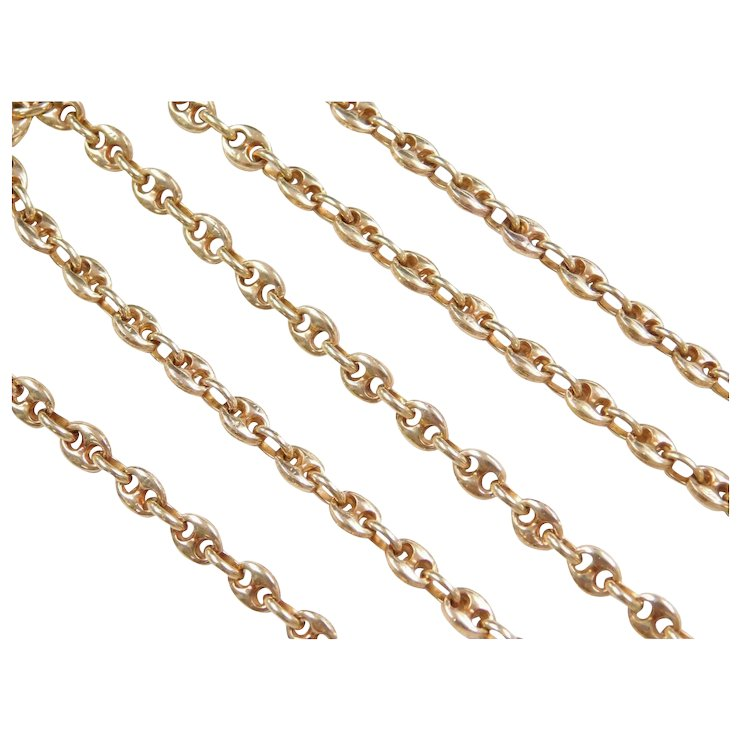 3dfcddb4 Vintage 18k Gold Gucci Link Chain ~ 20