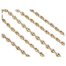 "Vintage 18k Gold Gucci Link Chain ~ 20"" ~ 26.5 Grams"