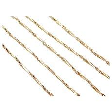 "Vintage 20k Baht Gold Fancy Chain ~ 19 3/4"" ~ 11.9 Grams"