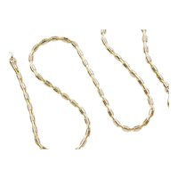 "17"" 18k Gold Two-Tone Barrel Link Chain ~ 19.5 Grams"