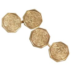 Edwardian 14k Gold Cufflinks