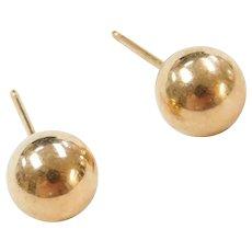 6mm Ball Stud Earrings 14k Gold