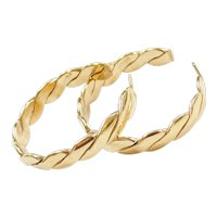 14k Gold Woven Hoop Earrings