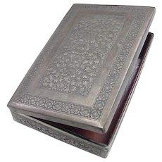 Edwardian 900 Silver Jewelry / Trinket Box