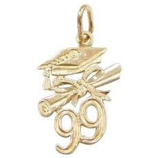 14k Gold '99 Graduation Charm