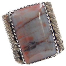 Sterling Silver Agate Ring